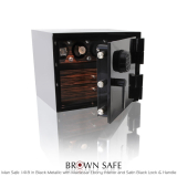 Brown Safe Luxusní trezor Man Safe 1418 Black/Macassar Ebony Trim