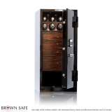 Brown Safe Luxusní trezor Man Safe 4018 Black/Macassar Ebony Trim, 4Watchwinders